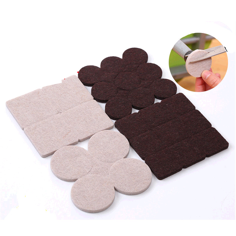 8 18pcs Adhesive Desk Chair Feet Pads Furniture Leg Feet Anti Slip Felt Mat  Prevent Noise Protection Flooring In Furniture Accessories From Furniture  On ...