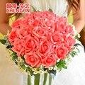 2017 Nueva Marfil Rojo Azul Púrpura Rosa Artificial Ramo De La Boda Ramo de Novia Dama de Honor Ramo De Mariage Bruidsboeket