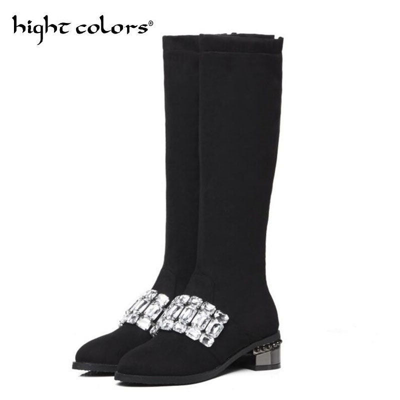 Plus Size Boots Ladies Casual Shoes Rhinestone Ribbon Womens Vintage VANCY wedge