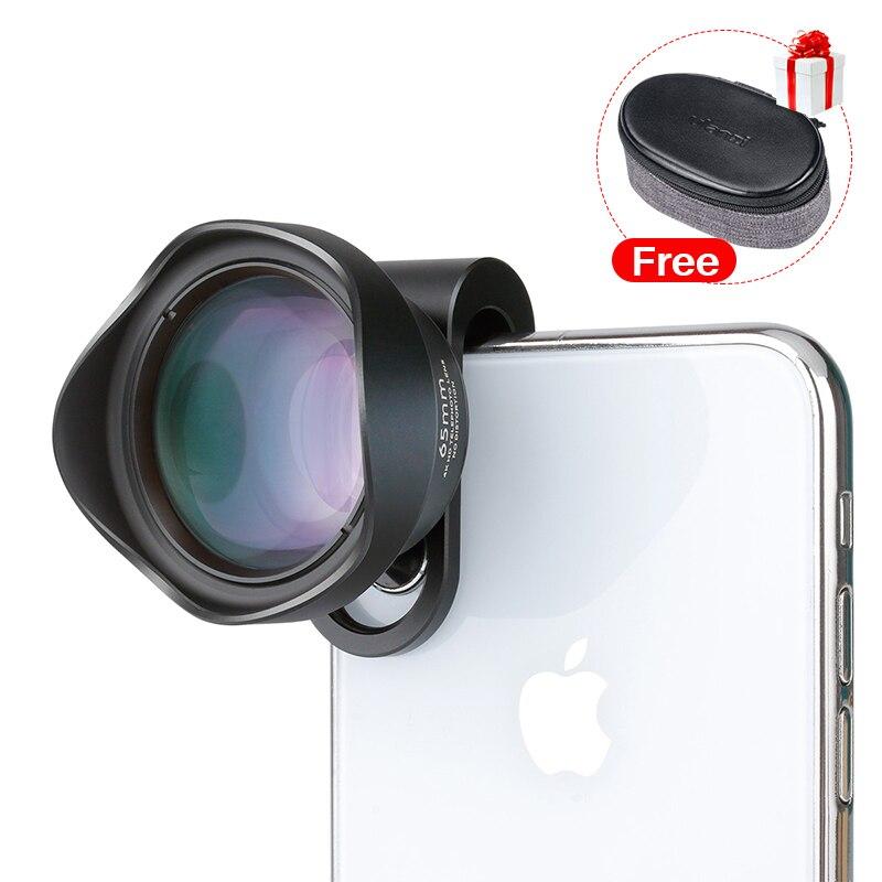 ULANZI 65mm HD Telefoto Lente Da Câmera Do Telefone Retrato com 17mm Clip para iPhone Samsang HUAWEI Android Smartphone Móvel lente Tele