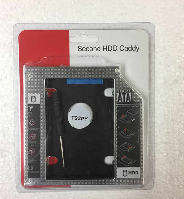 12.7 MM secondo SATA HDD SSD Hard Disk Caddy Adattatore per ASUS G75 G75vw G53 G53sw-Bbk5