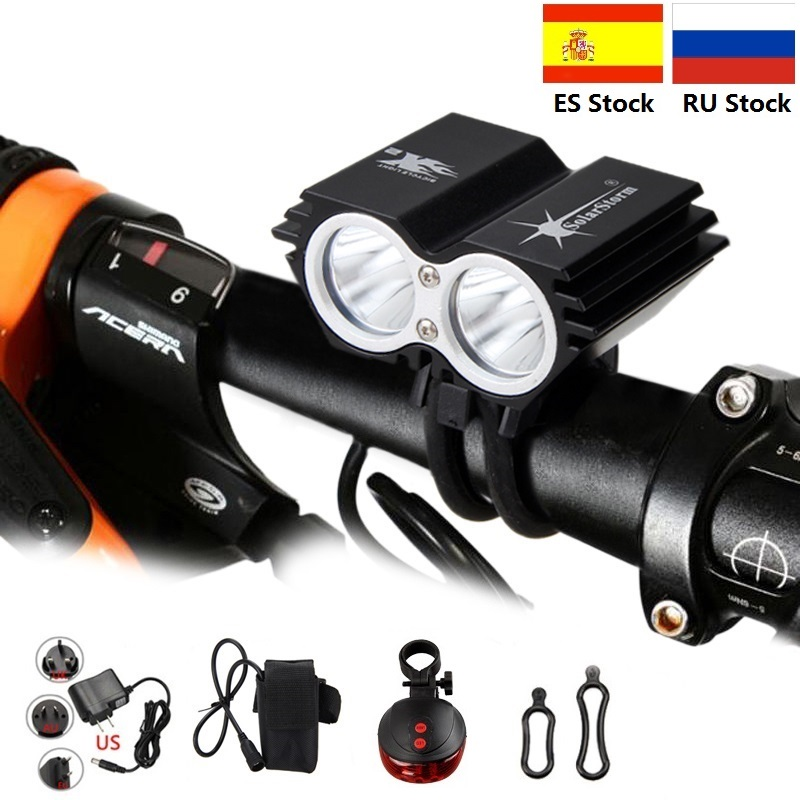 Solarstorm Battery Headlight Mini Bike-Accessories Led-Lamp-Beads 1000 2 X2 Lm Mah 6400 title=