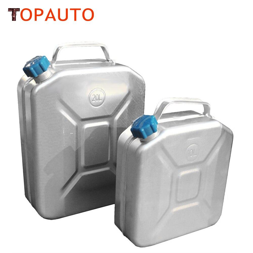 מיכל דלק 10L 12L אלומיניום עבה TopAuto אחסון מיכל מים לרכב אופנוע משאית דיזל בנזין שמן אביזרי משק הבית