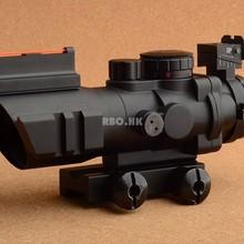 Тактическая оптическая Призма 4x32 ACOG прицел с передним и задним зрением Оптика прицел с 20 мм Пикатинни База M9392