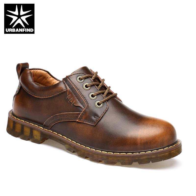 Genuine Leather Men Fashion Oxfords Casual Shoes Size 38-45 Work Safety Boots Designer Male Leather Shoes Black Brown Colors fashion men s shoes yellow black brown europe style genuine leather male martin boots large size 45 casual flats huarche boty