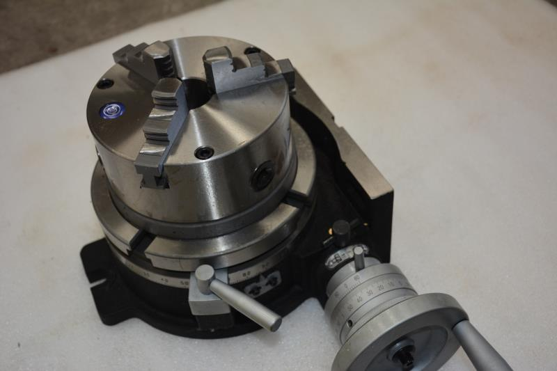 HV4 Rotary Table Indexing Head Vertical Horizontal Indexing Plate With Chuck Milling Machine Rotary Table HV4