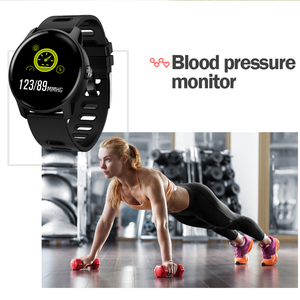 Image 4 - SENBONO New Men Smart Watch Fitness Tracker Heart Rate Monitor Pedometer IP68 Waterproof Women S08 Smartwatch For Android IOS