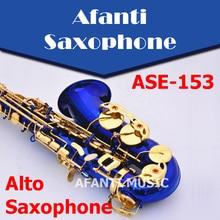 Afanti Music Eb tone / Brass body / Electrophoresis Gold Alto Saxophone (ASE-153)