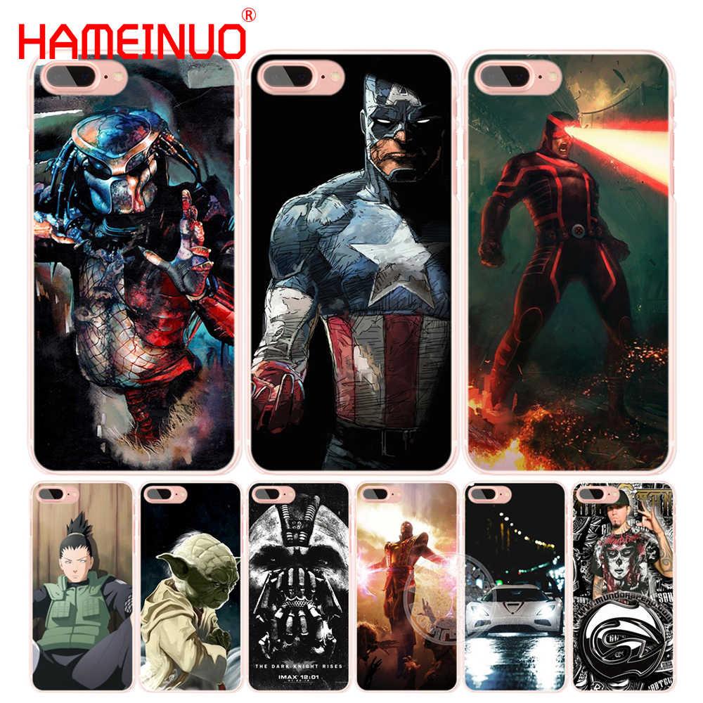 HAMEINUO Phim Hoạt Hình đáng yêu bat người đàn ông và điện thoại di động xe Bìa trường hợp đối với iphone 4 4 s 5 5 s SE 5c 6 6 s 7 8 X cộng với