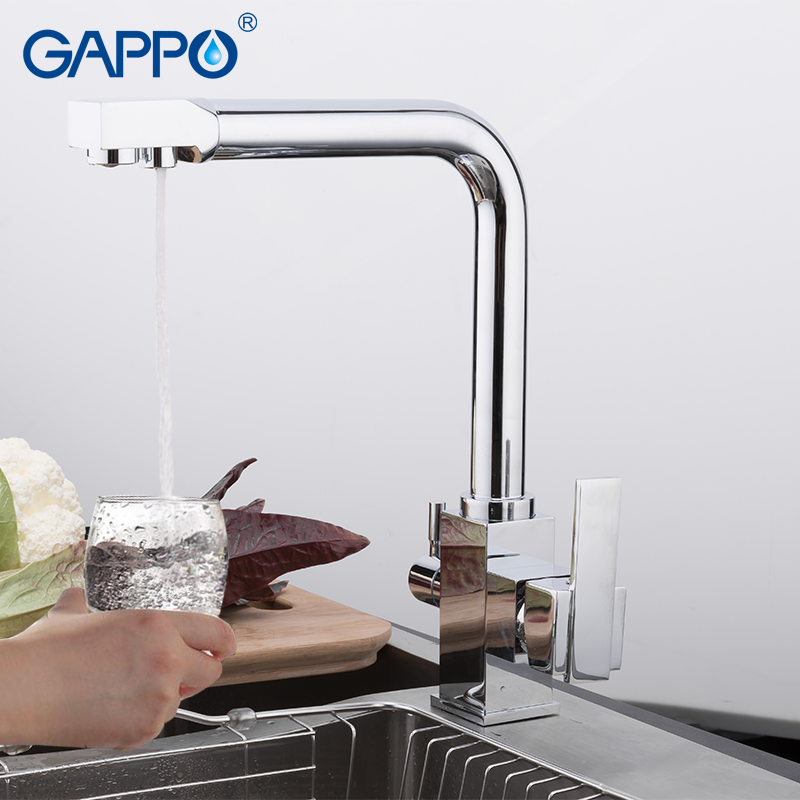 GAPPO Kitchen Faucet Chrome Brass Kitchen Sink Faucets Kitchen Filter Taps Mixers Tap Water Purified Faucet Torneira Y40519