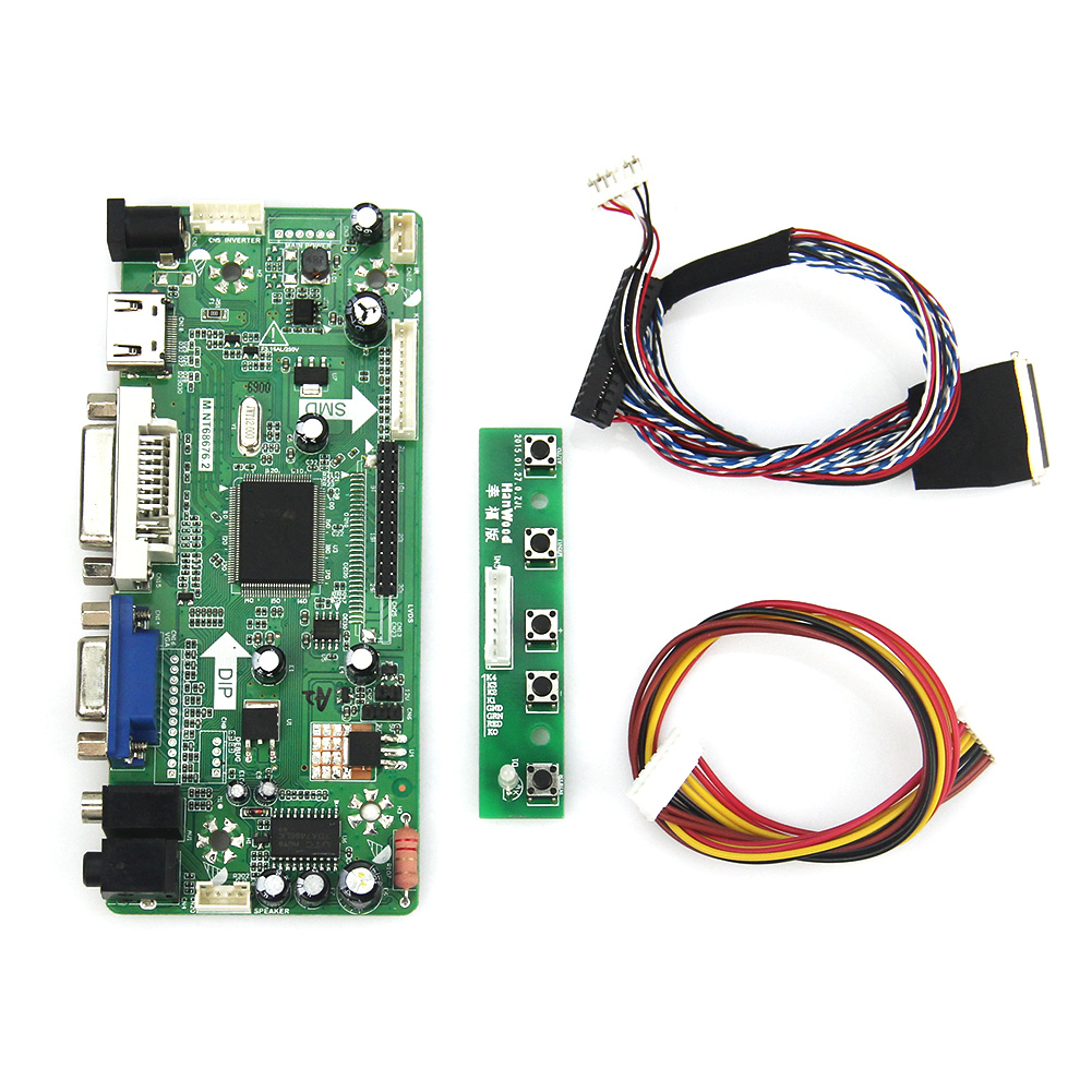 M.NT68676 LCD/LED Controller Driver Board(HDMI+VGA+DVI+Audio) For LP173WD1 LTN173KT01 1600x900 LVDS Monitor Reuse Laptop m nt68676 2a universal hdmi vga dvi audio lcd controller board for 14inch 1600x900 b140rw01 led monitor kit for raspberry pi