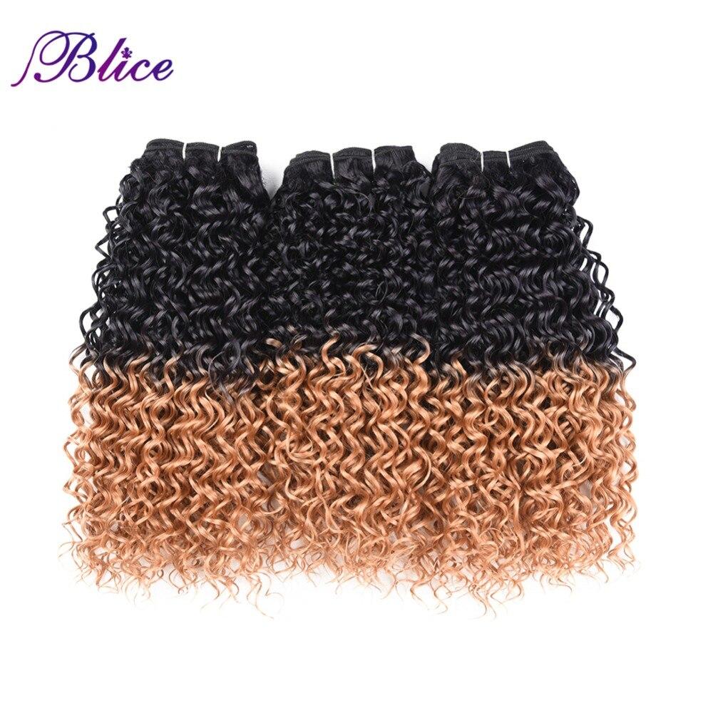 Blice tejido de pelo sintético 10-24 pulgadas mezcla # T1B / 27 onda - Cabello sintético