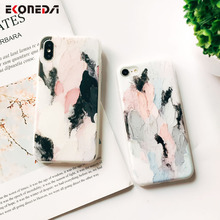 EKONEDA Abstract Art Dye Soft Case For iPhone 6 6S 7 Plus 8 Plus Case Matte IMD Silicone Back Case For iPhone XS Max XR X