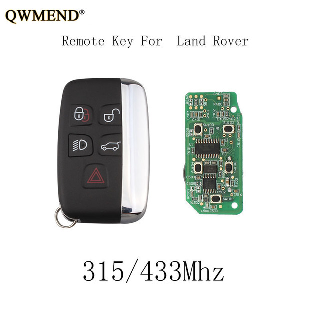 Car Remote Key >> Qwmend 433 315mhz Keyless Entry Car Remote Key Diy For Land Rover