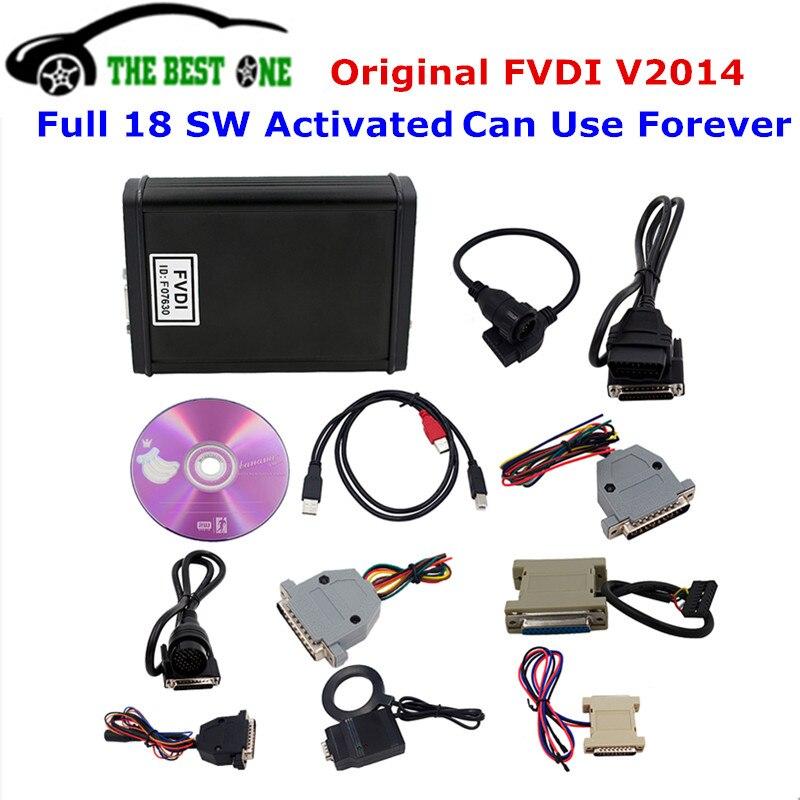 Цена за 2017 оригинальные FLY FVDI V2014 Abrites Commander 18 программного обеспечения полной версии FVDI 2014 без Применение временной предел автомобиля диагностический сканер