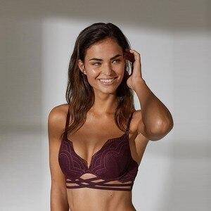 Image 3 - Missomoi Đơn Giản Và Gợi Cảm Màu Đầm Ren Khâu Túi Đeo Chéo Điện Đơn Có Thể Điều Chỉnh Dây Đeo Vai Áo Ngực