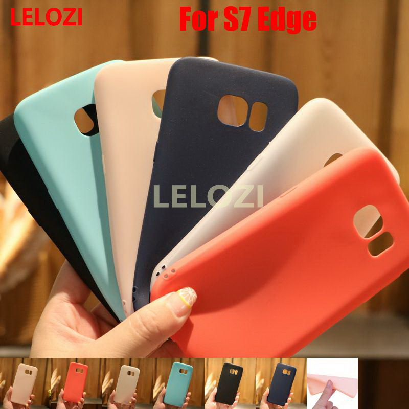 LELOZI Candy Colors TPU Soft Phone Back Carcasa Etui Case caso Cover fundas For Samsung Galaxy S7 Edge SM G935F SM-G935 SM G935