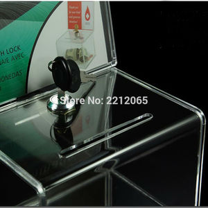 Image 5 - Counter Acrylic Donation Collection Box,Perspex Charity Fundraising Box with Keylock for Church,non profitable Group,Charity