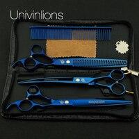 9Cr13 Hand Made Univin 7 0 Silver Color Pet Scissor Pet Grooming Scissor Pet Cutting Scissor