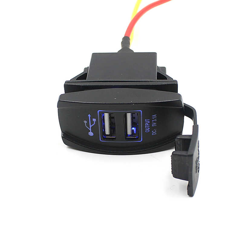 CARPRIE 2019 Hot Sale Car Charger Auto Boat Accessory Dual USB Charger Power Adapter Outlet For Cross bike Scooters Cars 904182