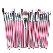 Makeup Brushes 20 Pcs 16 Color Professional Soft Cosmetics Beauty Make up Brushes Set Kabuki Kit