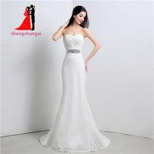 100% Real In Stock Elegant Sweetheart 2017 Mermaid Wedding Dresses Crystal belt Bridal Gowns Robe de mariage