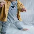 Hot sale Cute Newborn Baby Girl Boy Bear Fleece Rompers Playsuit Jumpers Outfits