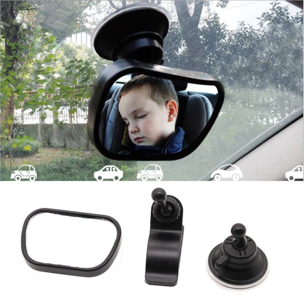 Baby Front View Mirror Car Back Seat View Mirror Reverse Safety Seats Mirror Baby Rear Ward Facing Car Interior Adjustable
