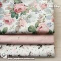 160x50cm Rose Manor Twill Pure Cotton Cloth Cheongsam Dress Skirt Baby Clothes Garment diy bedding apron fabric