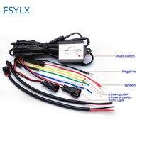 1X FSYLX Samochód Prowadził światło dzienne auto ON/OFF zmniejszyć światła DRL controller drutu auto z lampą błyskową i synchroniczne funkcja kierownicy
