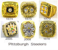 One set 6pcs Replica 1974 1975 1978 1979 2005 2008 Pittsburgh Steelers Super Bowl Championship Rings  together solid