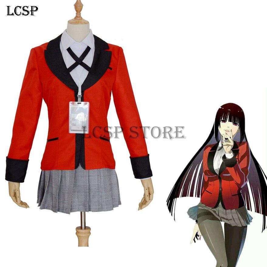 Hot kakegurui Yumeko jabami Kirari momobami School Uniform Cosplay Costume