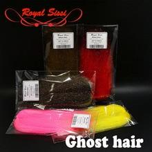 10 valinnaista väriä Ghost Hair Fly Tying hieno läpikuultava synteettinen hiukset erittäin liikkuvan sitomisen materiaali siivet, hännät ja elimet