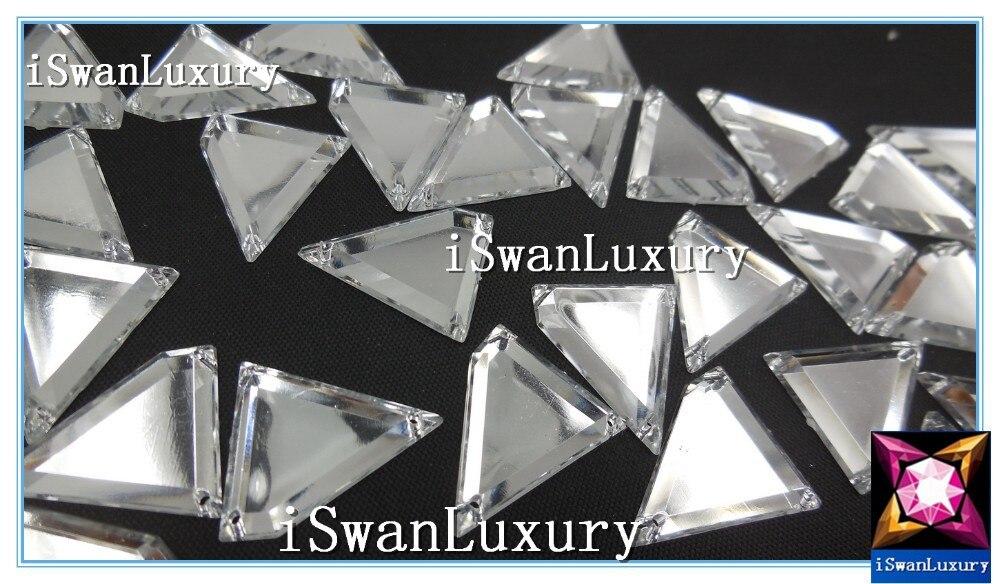 Китай А+++ 21x25 мм кристаллы зеркальные серебряные россыпью бусины Стразы для шитья Пришивные бусины кристаллы Камни