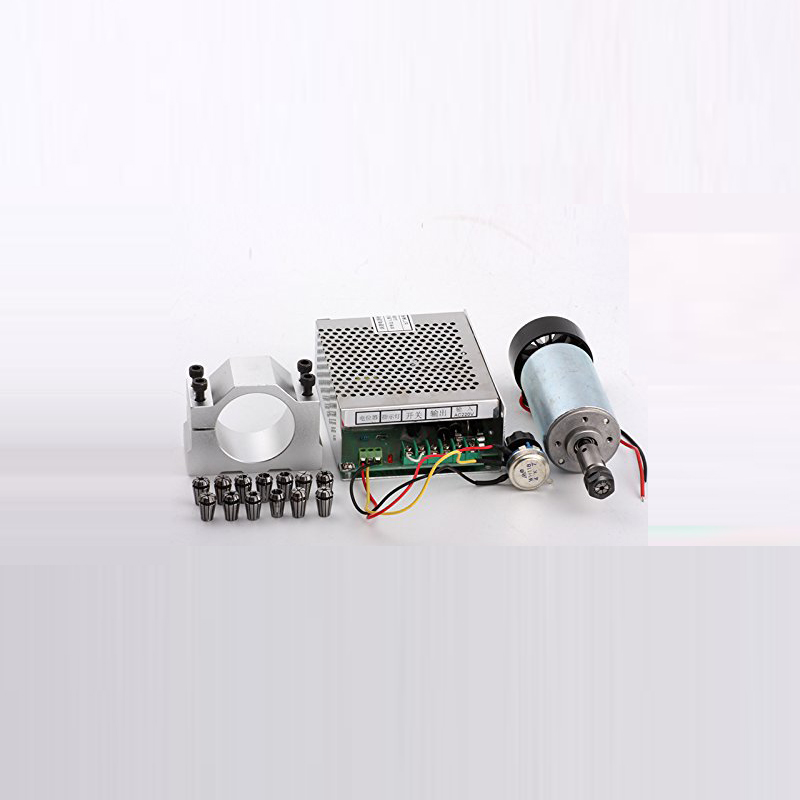 Free shipping 300w dc spindle motor + 52 mm clamp (send four screws) + power governor + 13 PCS ER11 collect