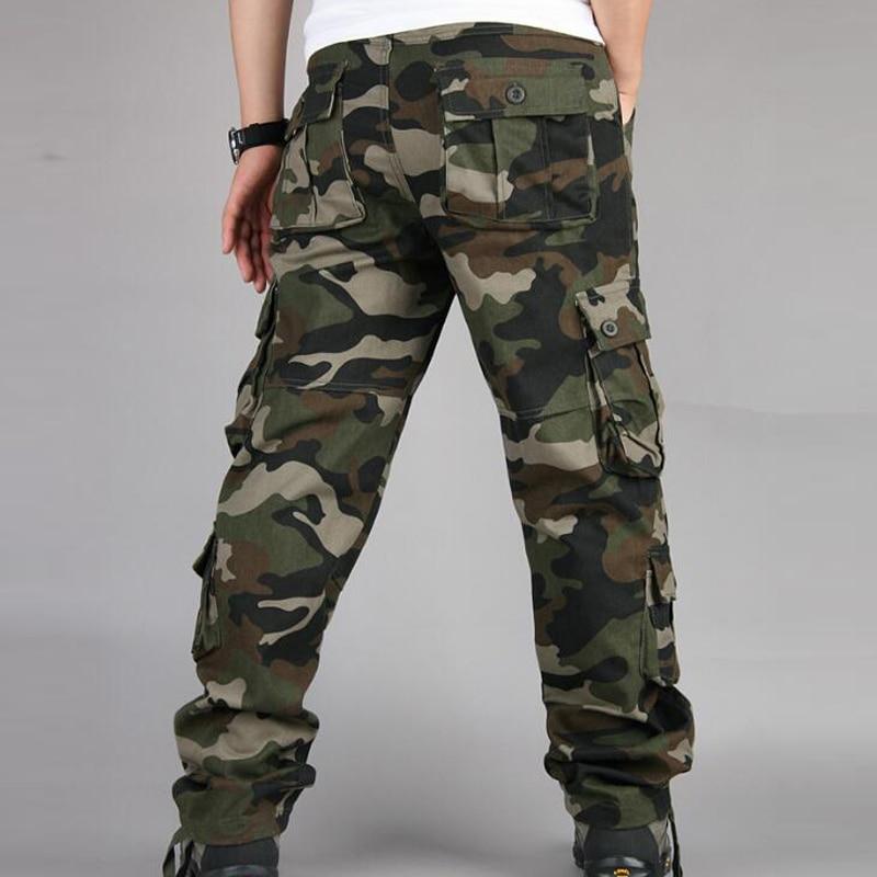 Camouflage Pants Men Casual Camo Cargo Trousers Hip Hop Joggers Streetwear Pantalon Homme Multi-pocket Military Tactical Pants