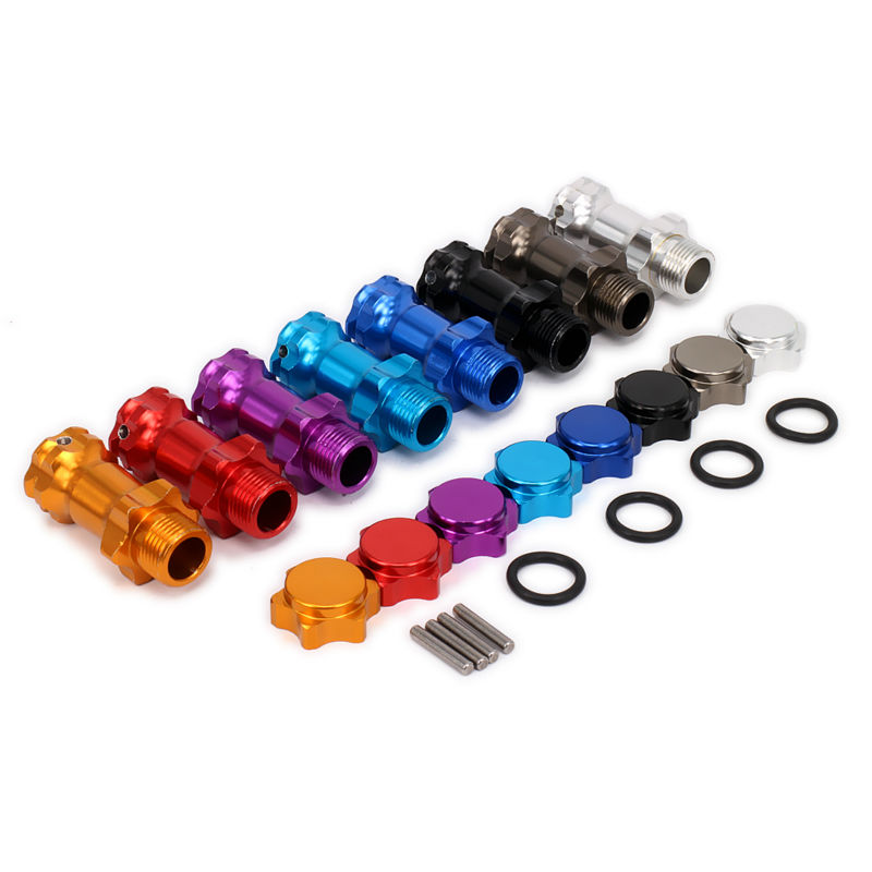 цены Wheel Hex Hub M17 17mm M37 37mm Extension Adapter 12mm Anti-Dust Capx4 Longer Combiner Coupler For 1/8 RC Model Car RC Parts HSP
