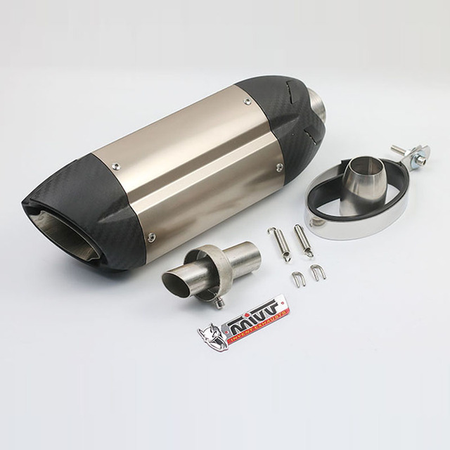 51MM Universal Motorcycle Exhaust Modified MIVV Muffler Pipe With DB Killer Z800 Devil Monster 796 Modified Exhaust Pipe