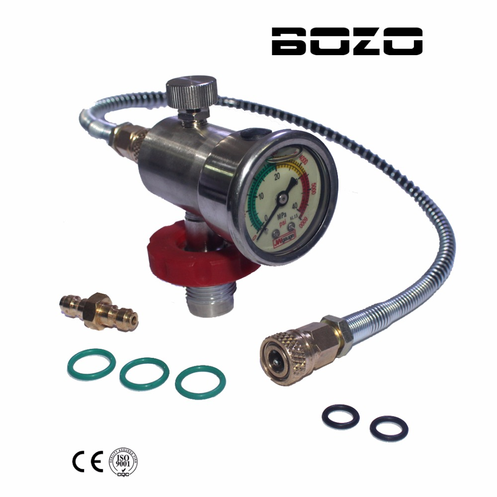 PCP Scuba Diving Valve CO2 Filling Station Valve 40mm Gauge for CF Cylinder Air Inflation to Small HPA Tank Refill Adapter