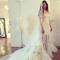 Vintage Sheath Lace Detachable Train Wedding Dress 2016 Long Applique Crystal Wedding Gowns 2 In 1