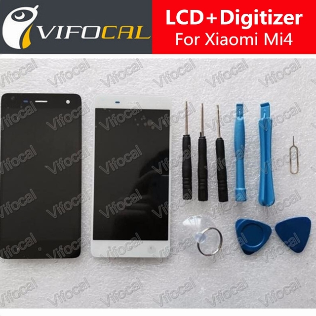 For Xiaomi Mi4 LCD Display + Touch Screen + Tools Set 100% New Assembly Replacement For M4 Mobile Phone + Free Shipping