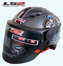 Free shipping Genuine LS2 OF100 motorcycle helmet half helmet wearable lens / light gray / myth