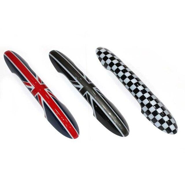 Union Jack-poignée de porte de voiture | 2 pièces, autocollants de couverture pour Mini Cooper JCW R55 Clubman R56 R57 R58 R59 R61, accessoires de style de voiture