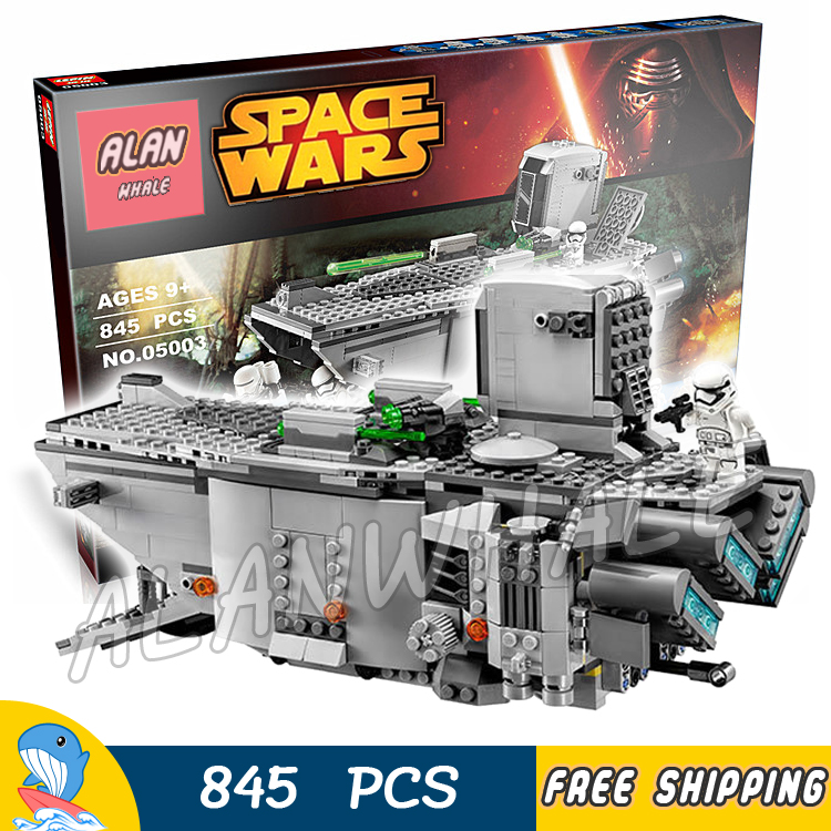 845pcs New Space Wars First Order Transporter 05003 Model Building Blocks Captain Phasma Toys Bricks Compatible With Lego джемпер brave soul brave soul br019ewulg29
