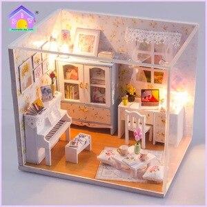Image 3 - 1個diy笑ベッドと家具チェアベッドテーブル本棚窓ピアノなど家のおもちゃオリジナル笑