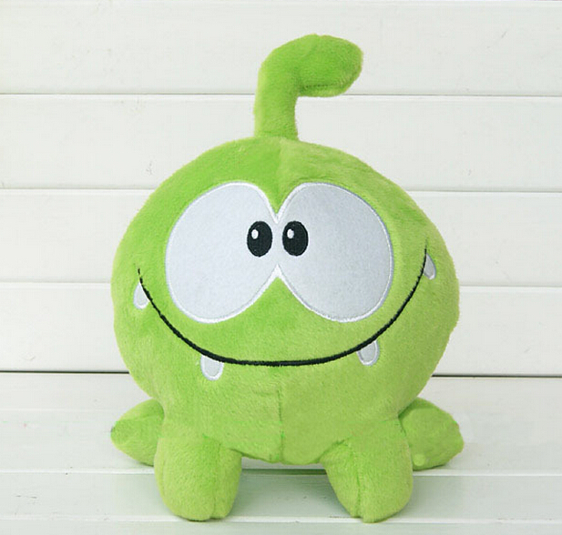 2017 So Kawaii 720cm Om Nom Frog Plush Toys Cut the Rope Soft Rubber Cut the Rope Figure ...