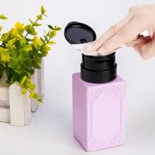 Bomba dispensadora vacía para retirar esmalte de uñas, botella de acetona para arte limpio de uñas, Gel UV líquido de 210ml
