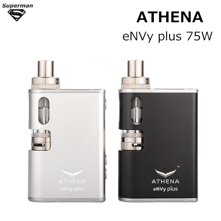 Original ATHENA eNVy plus 75W Box Mod KIT replaceable 18650 battery Vaporizer electronic cigarette vape vapor kits e cigarettes smoant battlestar 200w tc mod electronic cigarette mods vaporizer e cigarette vape mech box mod for 510 thread atomizer x2093