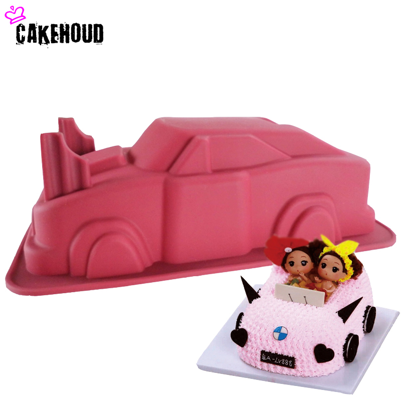 CAKEHOUD Car Shape Cake Mold Birthday Party DIY Фондант, Желе, Кәмпиттер, Шоколад Сабын Мастасы, Decorating Cake Bakeware Пісіру құралы