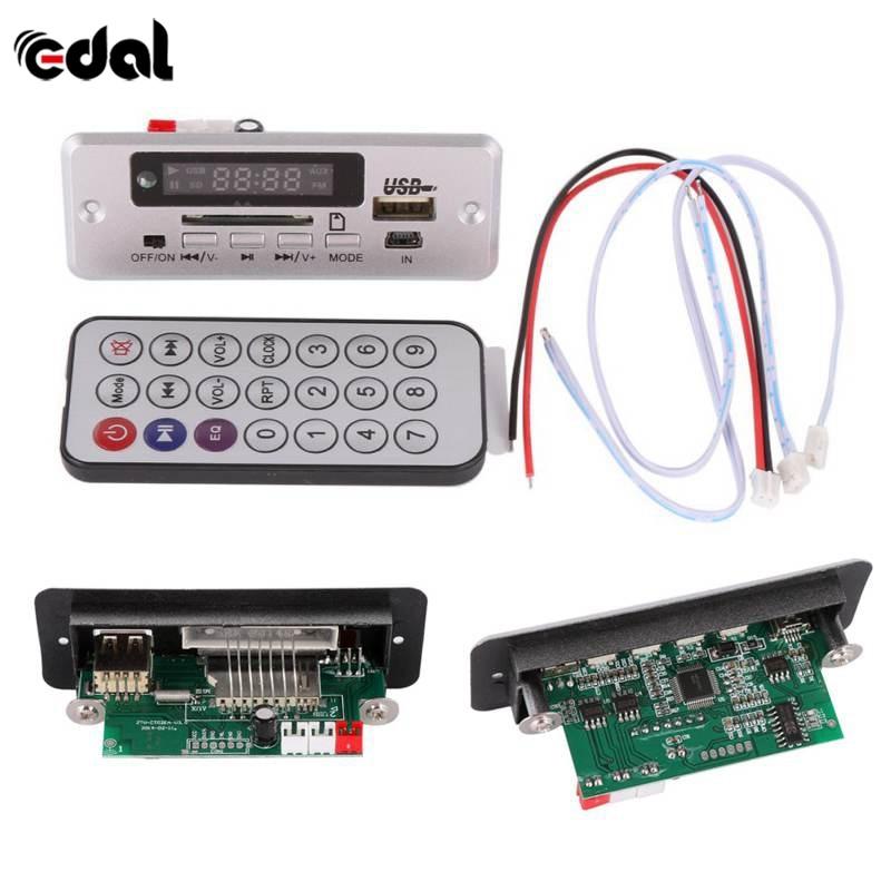 Полезный беспроводной MP3-плеер, декодер, плата, аудио модуль, USB TF радио для автомобиля, красный цифровой светодиодный, с пультом дистанционн...